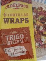 Tortillas wrap extra tiernas de trigo integral - Produit