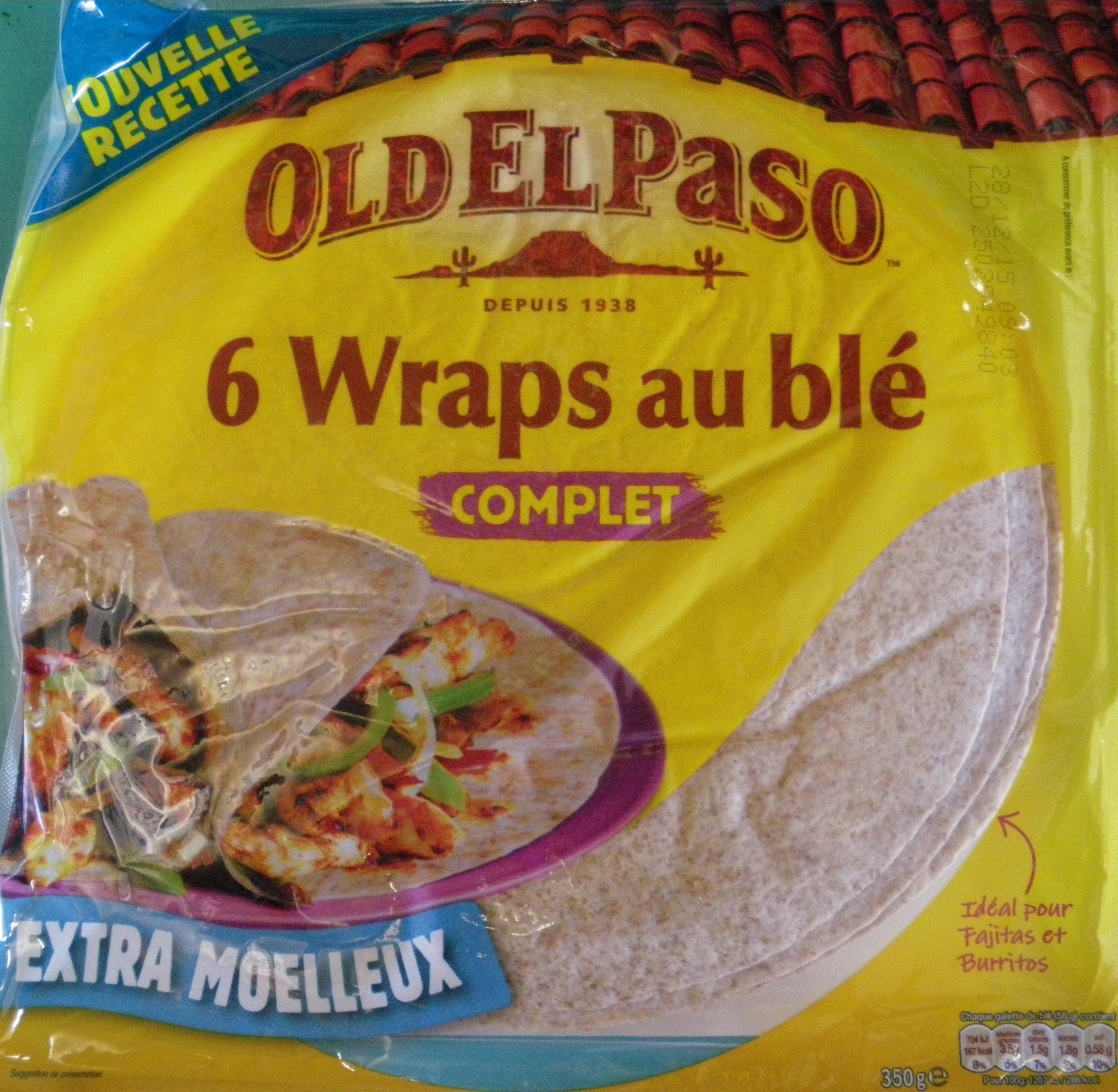 Wraps - Galette au blé complet - Producto