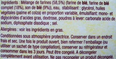 Wraps - Galette au blé complet - Ingredientes