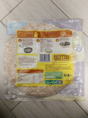 Wraps - Galette au blé complet - Ingredients - fr
