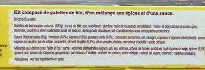 Kit pour fajitas - Ingredients - fr