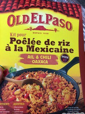 Kit pour poelee d'Oaxaca au chili et a l'ail OLD EL PASO - Voedingswaarden - fr