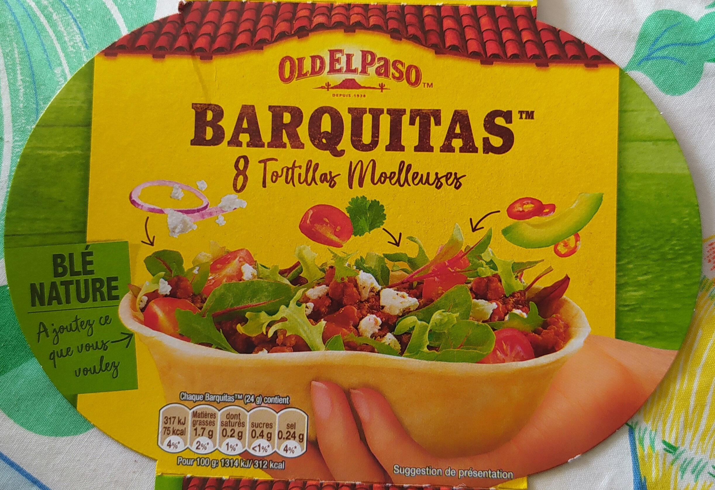 Barquitas-Tortillas Moelleuses souples au blé nature - Produit - fr