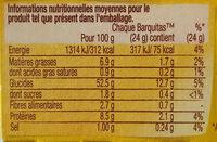 Barquitas-Tortillas Moelleuses souples au blé nature - Informations nutritionnelles - fr