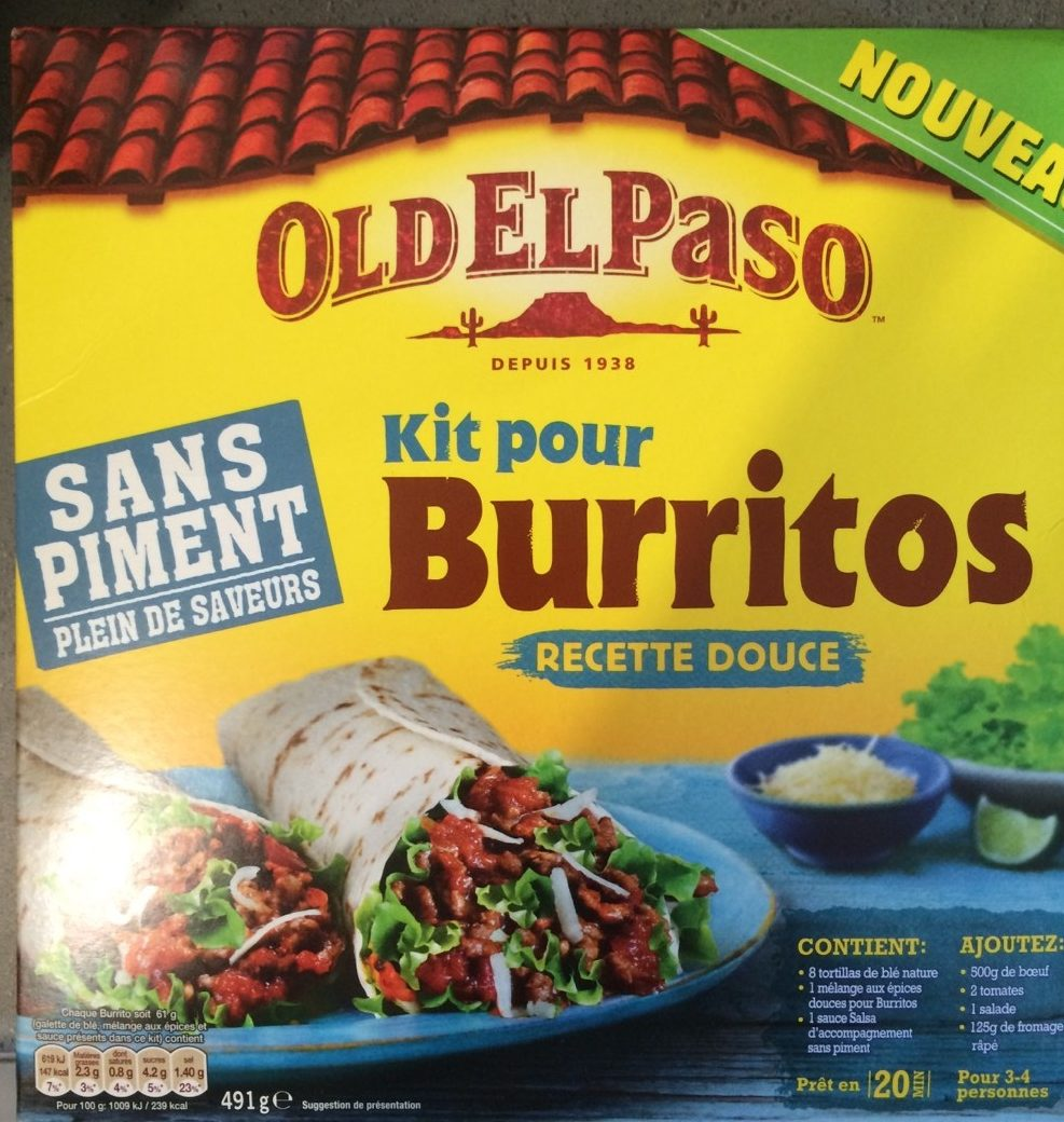 Kit pour burritos, recette douce - Produit