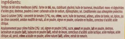 Kit pour Fajitas Recette Douce - Ingrediënten