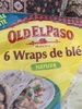 6 Wraps de blé Nature - Product