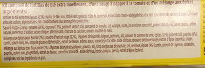 Kit pour buritos original - Ingredients