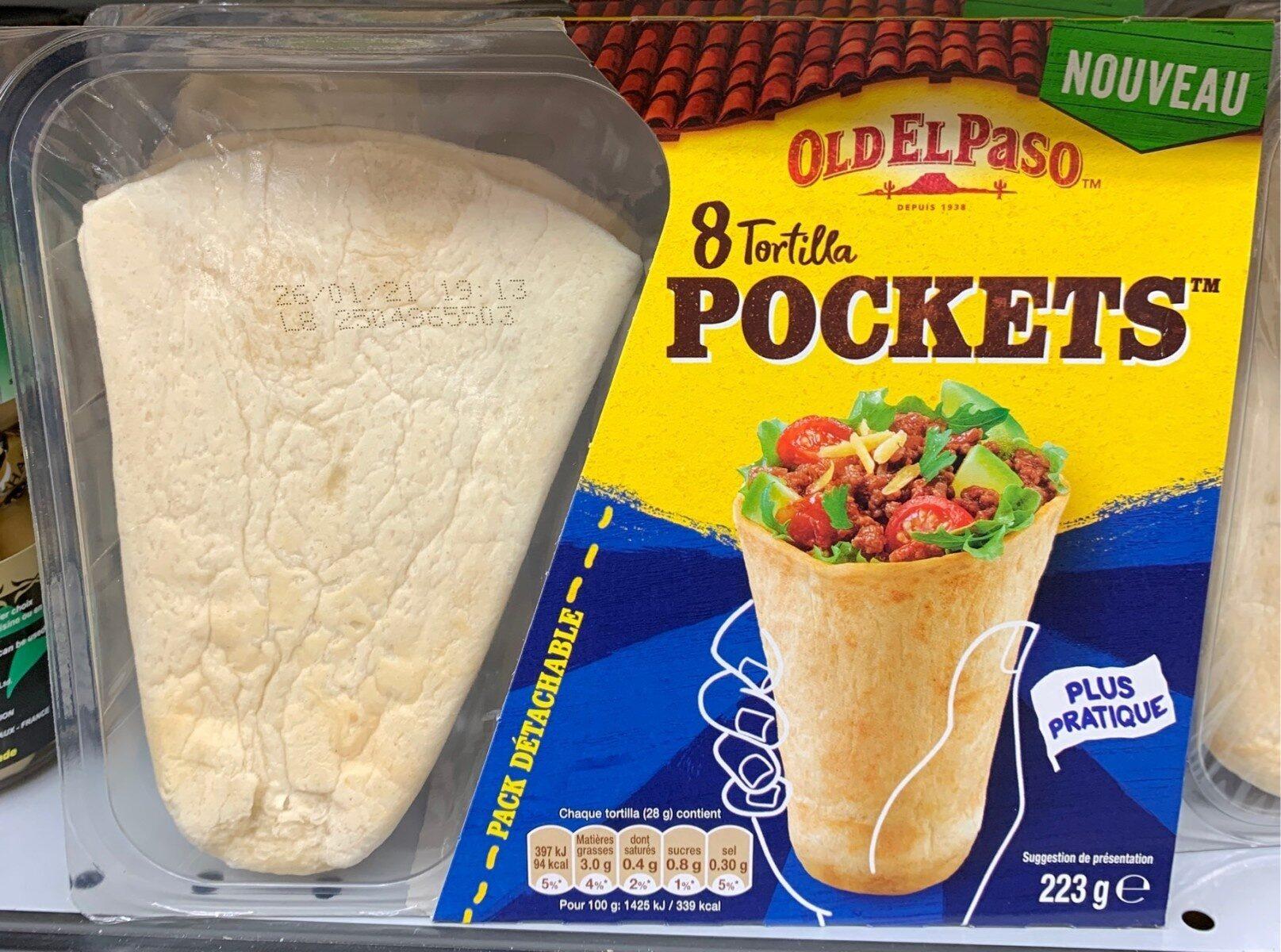 8 Tortilla Pockets - Product - fr