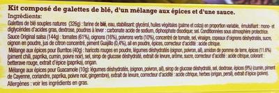 Kit pour burritos original - Ingrédients