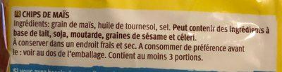 Tortilla Nachips - Ingrédients - fr