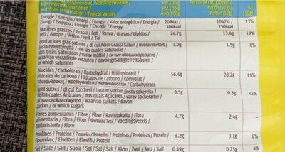 Tortilla Nachips - Informations nutritionnelles - fr