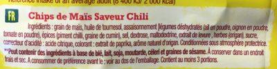 Chips Tortilla saveur Chili Old el Paso - Ingrédients - fr