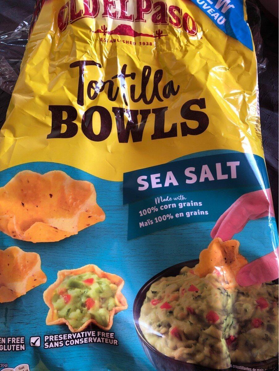Tortilla bowls au sel marin - Produit