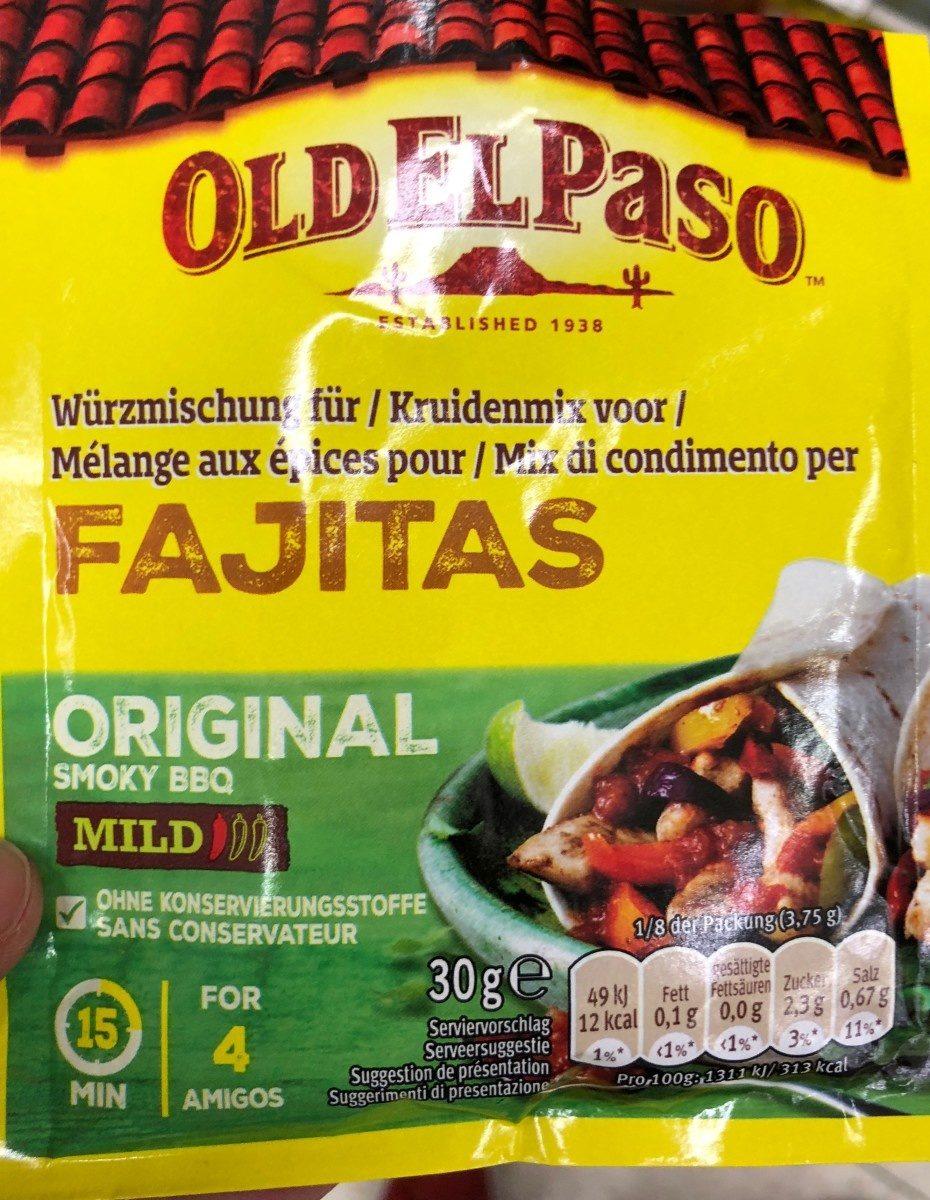 Oldelpaso Fajitas Mild Würzmischung - Prodotto - fr