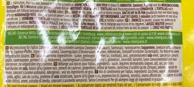 Oldelpaso Fajitas Mild Würzmischung - Ingredienti - fr