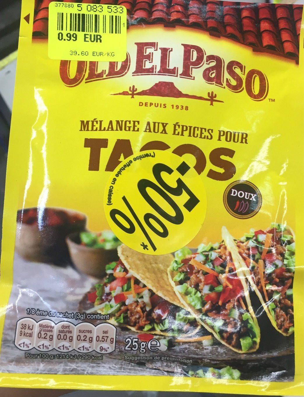 Melange aux epices pour tacos - Product - fr