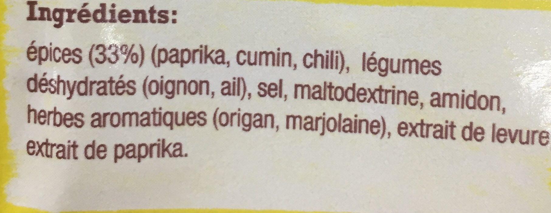 Melange aux epices pour tacos - Ingrediënten - fr