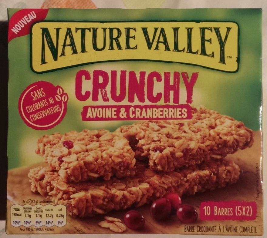 crunchy avoine cranberries nature valley 210 g. Black Bedroom Furniture Sets. Home Design Ideas