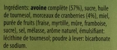 Crunchy Avoine & Cranberries - Ingredients