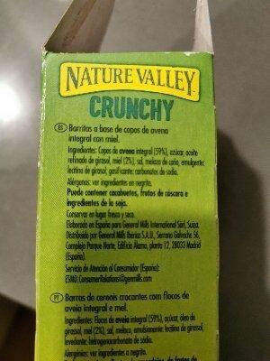 Crunchy de avena integral y miel - Ingredientes - es