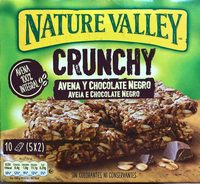 Crunchy de avena integral con chocolate negro - Produit