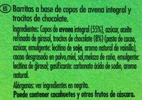 Crunchy avena y chocolate negro - Ingredientes - es