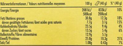 Protein Salted Caramel Nut - Informations nutritionnelles - fr