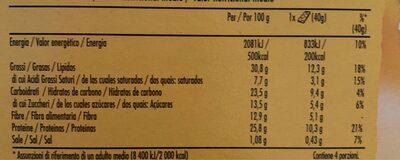 Barrette cereale caramello salato - Información nutricional - es