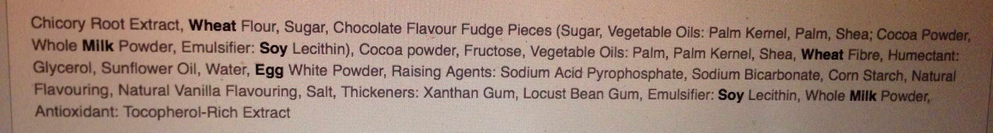 Calorie Chocolate Fudge Brownies - Ingredients - en