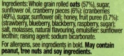 Oats & Berries - Ingredients