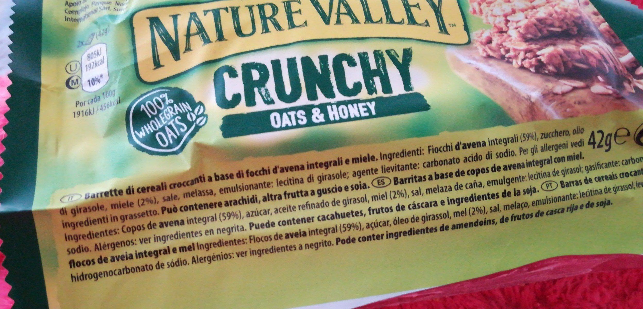 Crunchy Oats & Honey - Ingredientes - fr