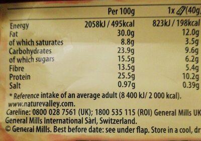 Protein peanut & chocolate - Información nutricional - es