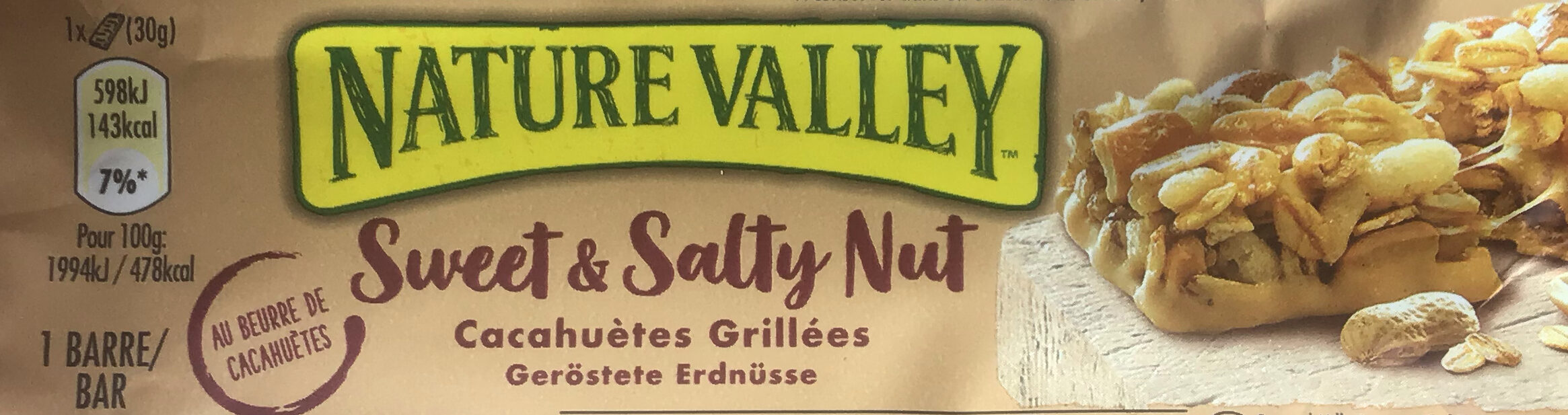 Sweet and Salty Nut Peanut Cereal Bar - Produkt - de