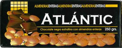 Tableta de chocolate negro con almendras 45% cacao - Producto