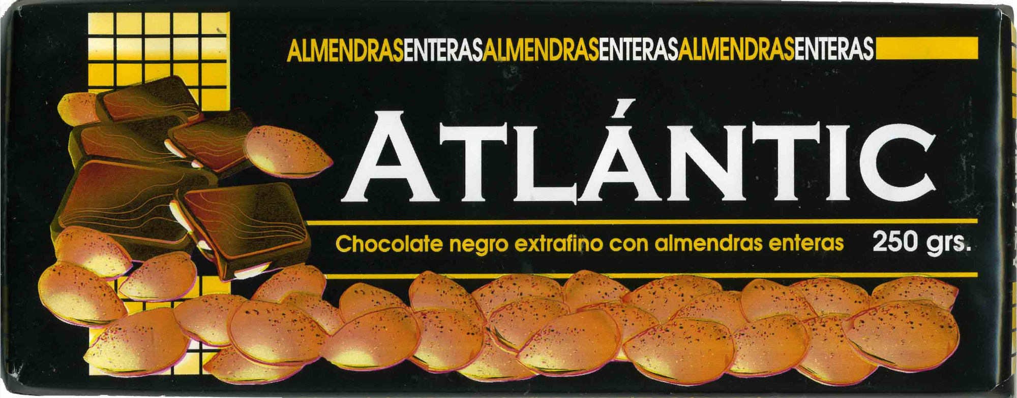 Tableta de chocolate negro con almendras 45% cacao - Producte - es