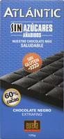 Tableta de chocolate negro edulcorado 60% cacao - Producto - es