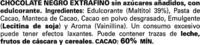 Tableta de chocolate negro edulcorado 60% cacao - Ingredientes - es
