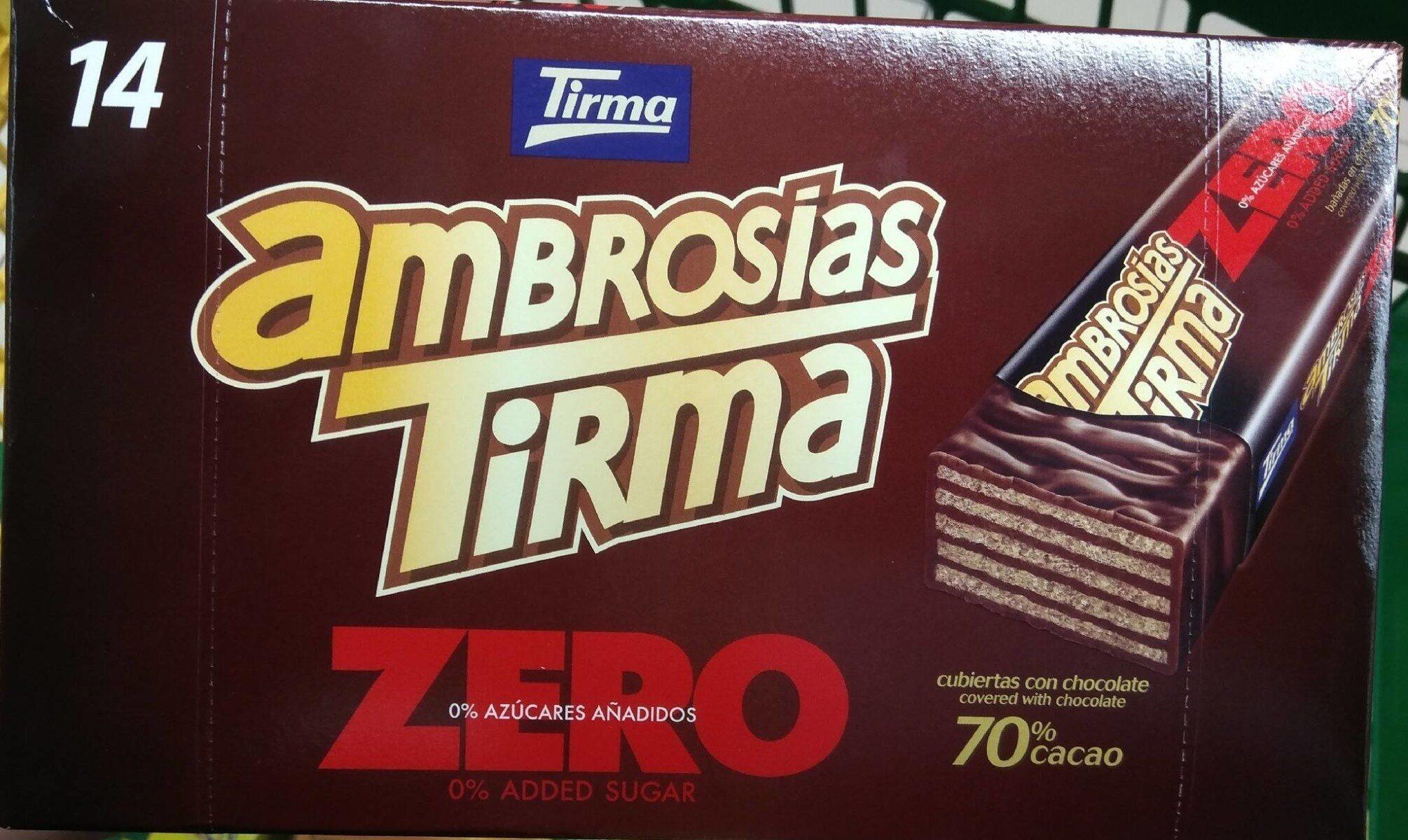 Ambrosías zero 70% cacao - Produit - es