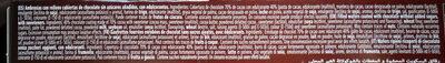 Ambrosías zero 70% cacao - Ingrédients - es