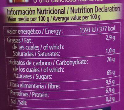 Tircao Instantánea - Información nutricional