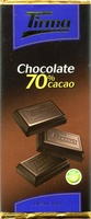Tableta de chocolate negro 70% cacao - Product - es