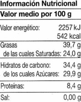 Tableta de chocolate negro 70% cacao - Nutrition facts - es