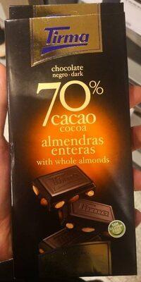 Chocolate negro 70% cacao con almendras