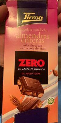 Chocolate con leche almendras enteras zero