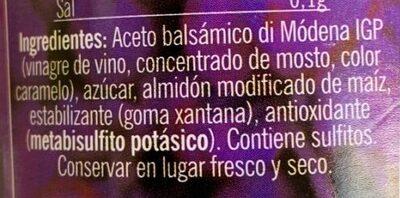 Crème de vinaigre balsamique - Ingrédients - fr