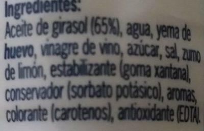 Mayonesa - Ingredients