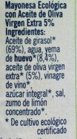 Mayonesa ecológica - Ingredients - es