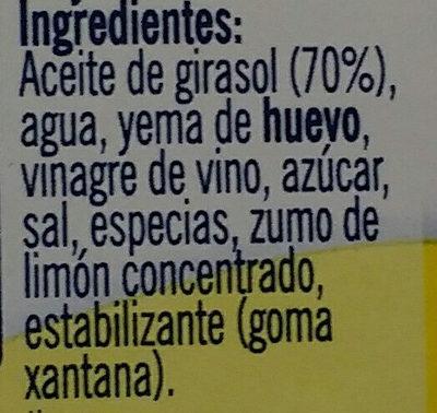 mayonesa Ibarra - Ingredients