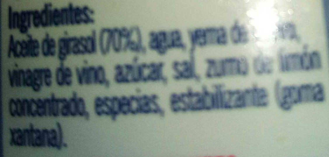 Mayonesa - Ingredientes - es
